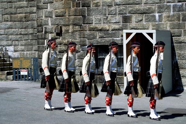 Parade auf der Zitadelle, gespielt von Studenten in den Sommerferien