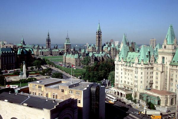 Parliament Hill in Ottawa, der Hauptstadt Kanadas