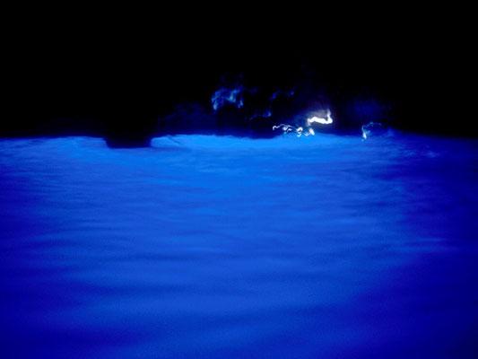 In der Blauen Grotte