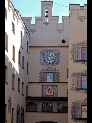 Das Bruggtor in Wasserburg am Inn von der Stadseite aus gesehen