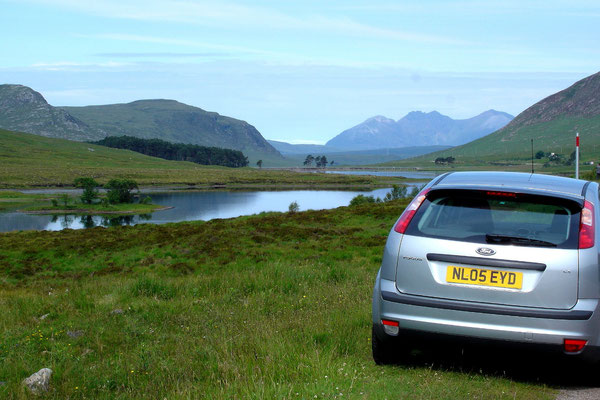 Unterwegs an der Westküste der Highlands - dem schönsten Streckenabschnitt