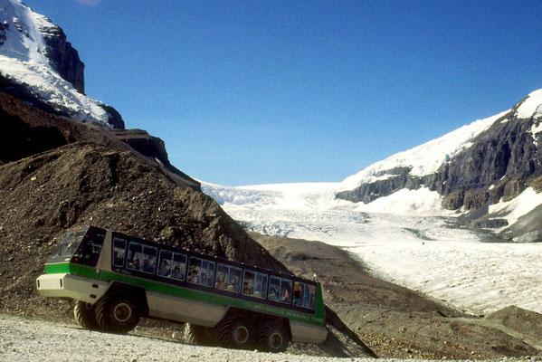 Mit dem Gletscherbus auf das Columbia Icefield
