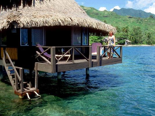 Overwater Bungalow im Bali-Hai Hotel auf Moorea