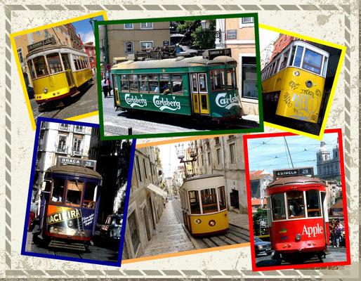 Bahnen und Elevadores in Lissabon