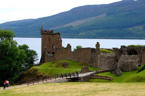 Urquart Castle Ruine am Loch Ness