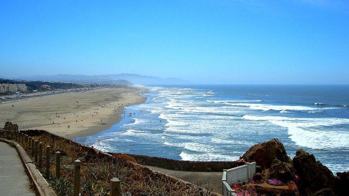 Ocean Beach an der Pazifikküste
