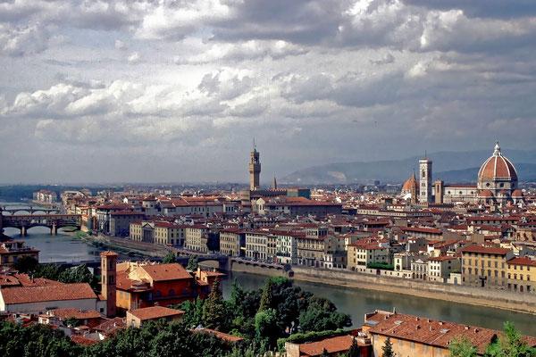 Blick über Florenz (Dia-Scan)