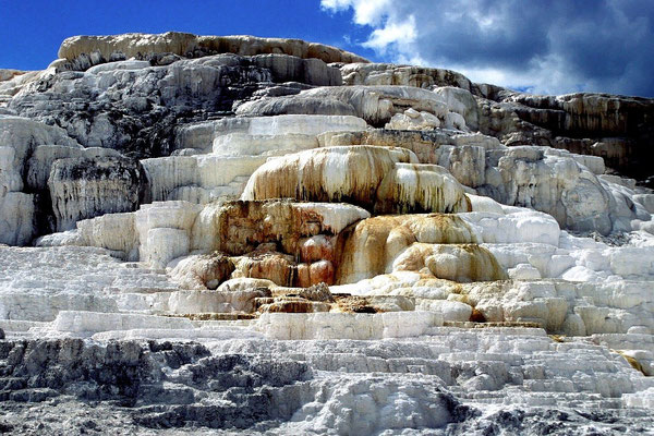 Sinterterrassen, Mammoth Hot Springs, Yellowstone NP, Wyoming (1989)