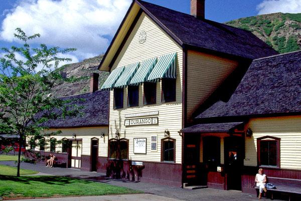 Historischer Bahnhof von Durango, Co. 1987