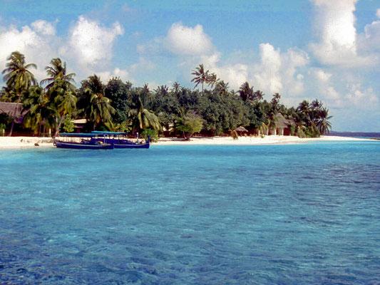 Korallensandstrände auf den Malediven
