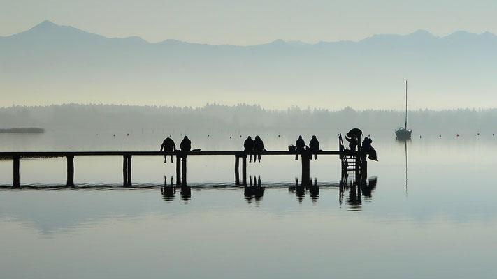 Abendstimmung am Starnberger See bei St. Heinrich im Winter (Lumix FX20)