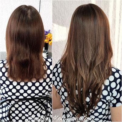 наращивание волос 45 см