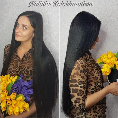 ленточное наращивание волос 70 см