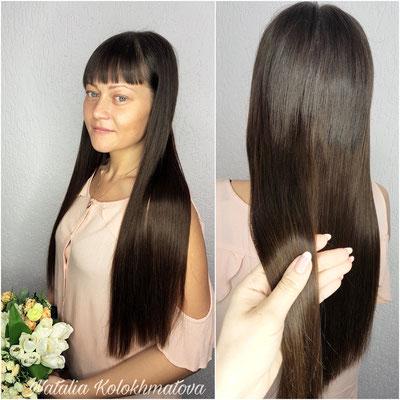 наращивание волос 60см