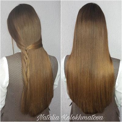 наращивание волос 60 см