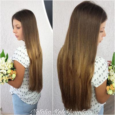 наращивание волос 70 см