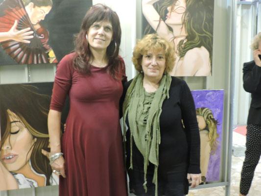 con l'artista Maria Jose Lavin Alvarez nel suo stand