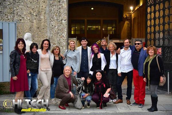 con i critici d'arte Giorgio Grasso, Mattea Micello ed artisti