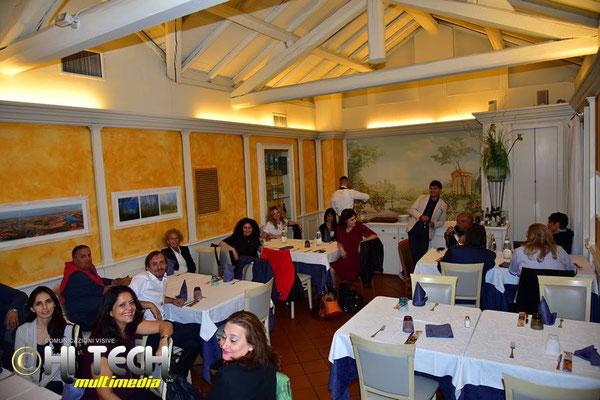 cena con i critici d'arte Giorgio Grasso, Mattea Micello ed artisti