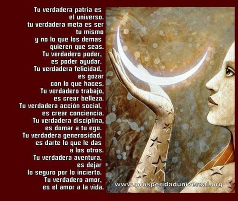 PERLAS DE SABIDURÍA - TU VERDADERA PATRIA ES EL UNIVERSO - PROSPERIDAD UNIVERSAL- www.prosperidaduniversal.org