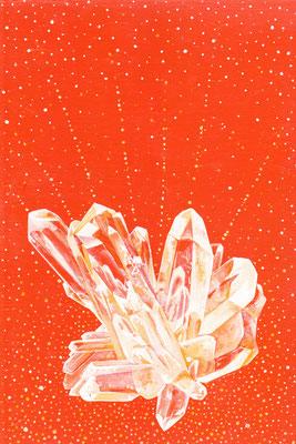 Cristal de Lumière   20x30cm sur medium vendu à Régine Bétat