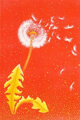 La Fleur d'Ouriel  20x30cm sur medium vendu à Jacqueline Belgique