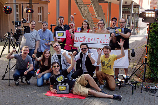"""SIMON-TV Team Dreh """"Die kleinste TV-Show der Welt"""""""
