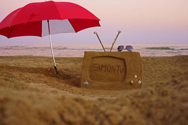 SIMON-TV Sandfernseher