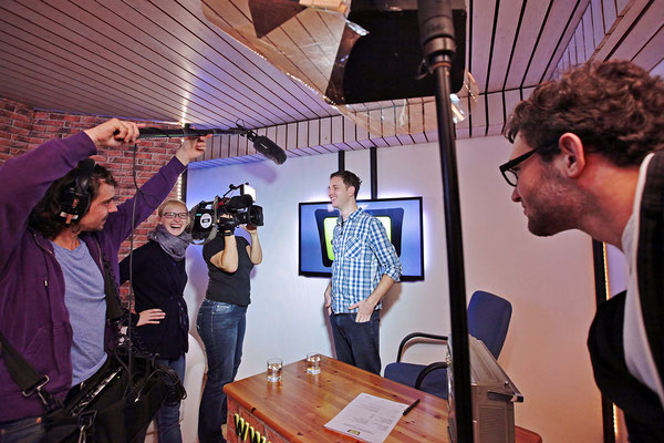 SIMON-TV Making-of Dreh EinsPlus (Fotografie Ralf Just)