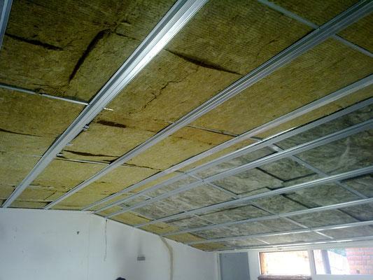 Paneles y mantas de lana de roca basaltica aislantes - Aislamiento termico techos interior ...