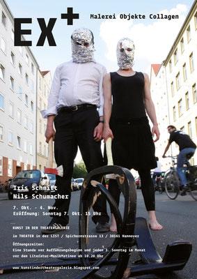 Plakat zur EX+ - Ausstellung in der Theatergalerie (07.10. - 04.11.12), Hannover