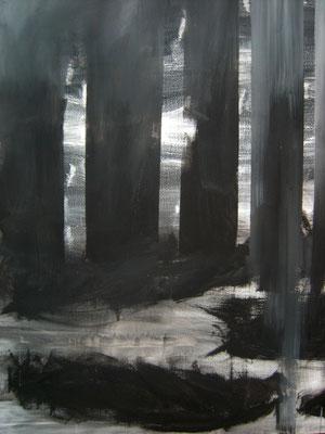 """""""Schwarze Wälder""""(120x150cm, Acryl auf Leinwand, 2013 )"""