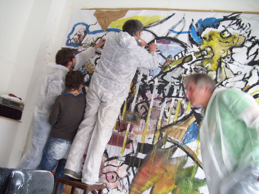 EXPORT bei der Arbeit (Mai 2010, Galeria Lunar)