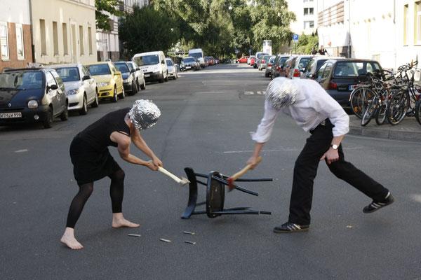 Performance für das Plakatmotiv (August 2012) (Foto: Silke Rokitta