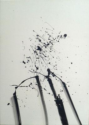 """""""Der geplatzte Manager"""" ( 100x 80 cm, Acryl auf Leinwand, 2015)"""