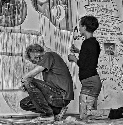 """""""Auswärtsspiel"""", 11.05/12.05.13, """"Künstlerladen"""", Gretchenstrasse, Hannover"""