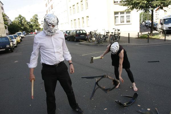 Performance während der Fotosession für das Plakatmotiv (August 2012) (Foto: Silke Rokitta)