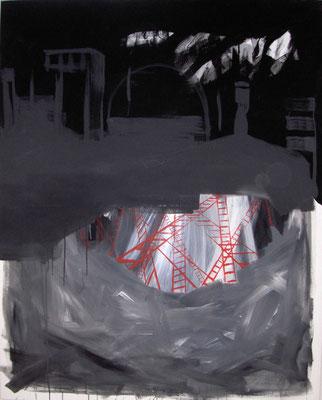 """Fabrik""  (120x150cm, Acryl auf Leinwand, 2013 )"