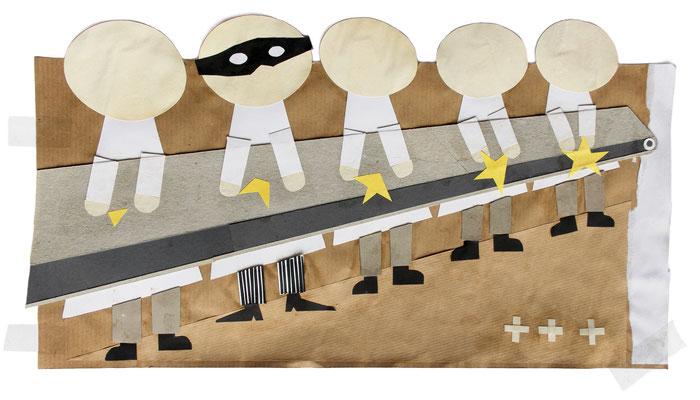 """Undercoverboss soap"" Illustration für das Kompakt-Magazin der IG BCE © Stefan Hoch"