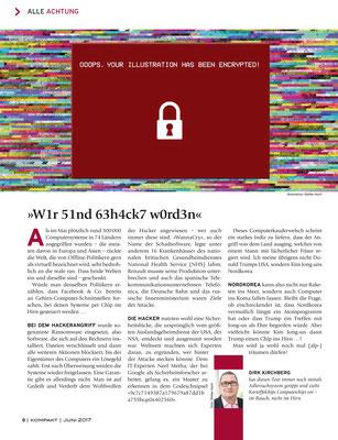 """""""wannacry virus"""" für das Kompakt-Magazin der IG BCE © Stefan Hoch"""