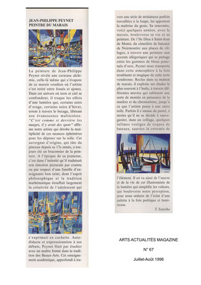 ARTS ACTUALITÉS MAGAZINE n°67 - Juillet-août 1996