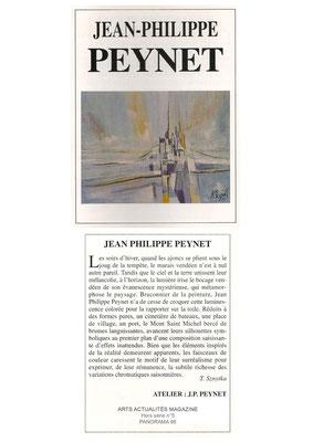 ARTS ACTUALITÉS MAGAZINE HORS SÉRIE n°5 - PANORAMA 1998