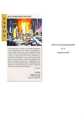 ARTS ACTUALITÉS MAGAZINE n°77 - Juillet-août 1997