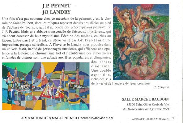 ARTS ACTUALITÉS MAGAZINE n°91 - Décembre-janvier 1999