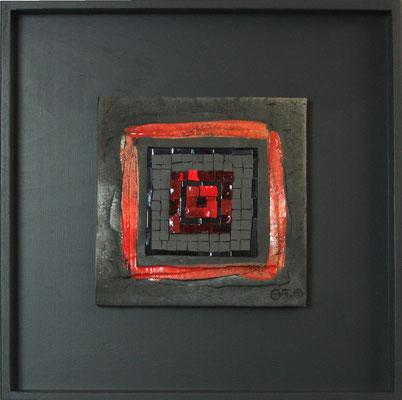 petit carré, 40x40 cm, MAGMA 2015 (VENDU)