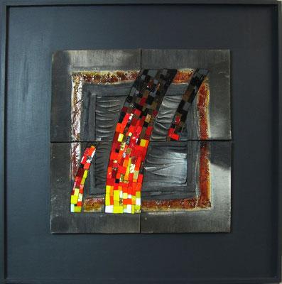 très gd carré, 65X65 cm, MAGMA MASCULIN 2014