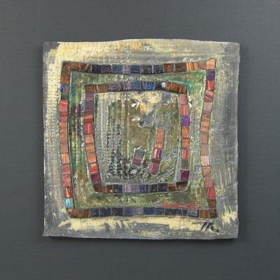 petit carré, 40x40 cm, CREPUSCULE 2014