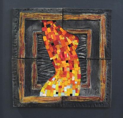 très gd carré, 65X65 cm, MAGMA FEMININ 2014 (VENDU)
