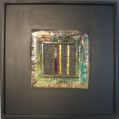 petit carré, 40x40 cm, CREPUSCULE 2014 (VENDU)