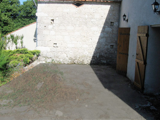 photo de la terrasse sans tapis